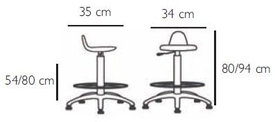 dimensions tabouret pu haut
