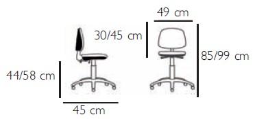 dimensions siege tissu bas