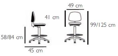 dimensions siege tissu haut