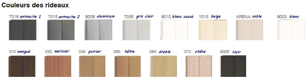 coloris rideaux